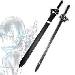Acier au carbone japonais lame noire épée anime alliage de zinc katana épée décoration de la maison vintage à partir de décor de zinc fabricateur