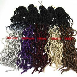 """Bouclés tisse coiffures en Ligne-20 """"Omber Curly Weave Coiffure Faux Locs Synthétique Crochet Tressage Cheveux pour Femmes Long Curly Jumbo Tresses Crochet Hair Extension 20s / set"""