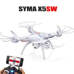 Promotion vidéo rc Vente en gros Jouets SYMA X5SW 2.4G 4CH Drone avec caméra FPV WIFI en temps réel Vidéo CMA 2.4G 6-Axis RC Quadcopter Avion