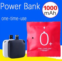 Wholesale Disposable Mini mA One Time Use Charger Wireless External Portable Battery Power Bank Emergency Charging for IOS Samsung Android Phone