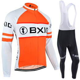 Wholesale BXIO Winter Thermal Fleece Cycling Jerseys Keep Warm Cycling Clothes Popular Style Long Sleeves Sets And Autumn Comfort Bikes Clothes BX