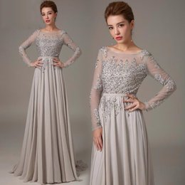 2017 New Appliques Prom Dresses Sweep Train Evening Dresses Sexy Backless Long Sleeves Party Prom Gowns