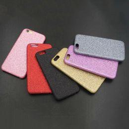 Caso del brillo de Bling para el iPhone 6 6S más la plata brillante púrpura suave del oro del color de rosa del negro de la cubierta del polvo del flash TPU suave delgado desde iphone bling la rosa fabricantes