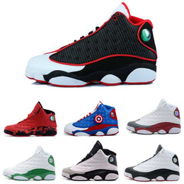 Wholesale With Box Mens Basketball Shoes Air Retro XIII Bred Black True Red Sports Shoe Athletic Running shoe Best price Sneakers Shoes