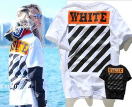 High Quality kanye west t-shirt Mens Off White T Shirt Hip Hop short Sleeve t-shirts Off-White Tshirt For Men SIZE M-XL