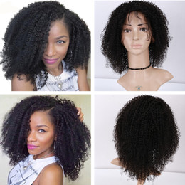 Afro Curly Full Lace Wig Unprocessed Human Hair Lace Front Wigs Brazilian Afro Kinky Curly Wigs For Black Women With Baby Hair