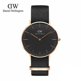 Wholesale Retail Fashion Luxury Brand DW Watch Style Nylon Strap MM Daniel Men Women Wellington Wristwatch montre femme