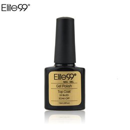 Wholesale Elite99 ml UV Gel Top Coat Top it Off Nail Gel Polish Top Gel Sealer Topcoat for UV Curing Acrylic Nail Art Glossy Coating