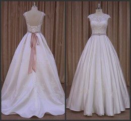Custom Unique Style B all Gown Wedding Dresses Cheap Appliques Elegant Sweep Train Sleeveless Jewel Neck Lace Up Back High Quality