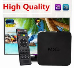 Wholesale High Quality MXQ TV BOX Amlogic S805 Quad Core Android Media Player Rooted Online Update Kodi Android TV Box Free DHL sale