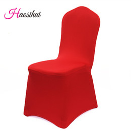 Wholesale 25PCS Removable Cover for Chairs Universal Spandex Lycra Chair Cover for Wedding Home Dining Office Decoration