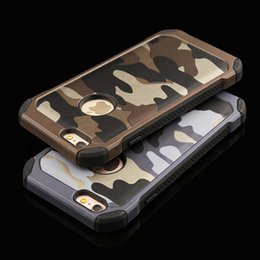 2017 New Fashion 2 in1 Armor Hybrid Plastic+TPU Defender Case Army Camo Camouflage Military Back cover for iphone 7 6S Plus Samsung S8 S7 S6