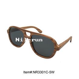 stylish pilot style zebra wood sunglasses