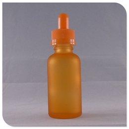 Wholesale 30ml Orange Frosted Matte Glass Dropper Bottle Glass E liquid e juice Glass dropper Bottle shrink tube DHL Free