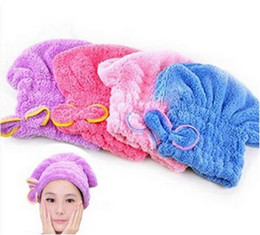 cheveux amicaux Promotion Mode Home Textile Peau de cheveux secs à usage professionnel Microfibre à cheveux Turban Quickly Dry Hair Hat Wrapped Towel Housse de bain