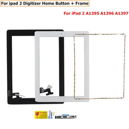 Touch Screen Digitizer for ipad 2 iPad2 A1395 A1396 A1397 Touch Panel Sensor Front Glass home button +Frame +tools sets