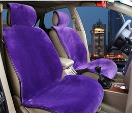 Wholesale Interior Accessory Winter Car Seat Cushion Cover Full Set Pillow Wool ABB Warm Red Black Violet Velour Five Seat