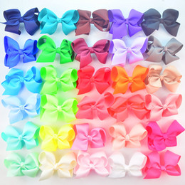 "Wholesale 4.3"" New Style Bows without Hair Clips DIY Hair Accessories for baby grils 300pcs lot free shipping"