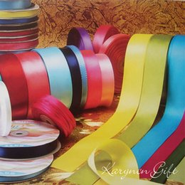 Wholesale MM Colors Pretty Silk Satin Ribbon yards Wedding Party Decoration Invitation Card Gift Wrapping