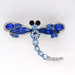 Wholesale Marquise Crystal Rhinestone Dragonfly Fashion Costume Pin Brooch jewelry gift C261
