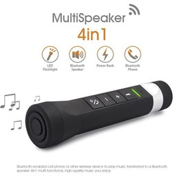 RIDING 4 IN 1 POWER BANK BLUETOOTH SPEAKER, OUTDOOR CAMPE CYCLING BLUETOOTH SPEAKER WITH POWER BANK FM  FLASH LIGHT WITH RETAIL PACKAGE