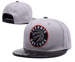 Los sombreros de los hombres en Línea-NUEVOS 2017 Toronto Raptors ajustables precio al por mayor Snapback Sombrero Snap Back sombrero de baloncesto barato sombrero hombres ajustables mujeres gorra de béisbol