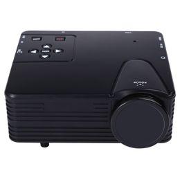 Скидка единая панель Оптово-TOPS H80 640 * 480 пикселей Full HD 1080P Мини светодиодный проектор для домашнего кинотеатра Одноместный TFT-LCD панель дисплея Поддержка AV USB VGA HDMI