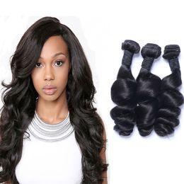 Resika 3Bundles 100g pcs Loose Wave Brazilian Peruvian Malaysian Virgin Hair Weave Cheap Curly Remy Human Hair Extensions Free Shipping