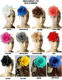 High quality 15cm soft silk flower for sinamay fascinator hat summer fedora,hair accessory and wedding headpiece