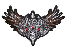 Free Shipping High Quality Huge Embroidery Iron Patches Motorcycle Biker for Jacket Back Hells Evil Eagle