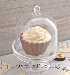 boîte de cupcake pour festin de mariage Promotion 4 Color Pick - 20pcs / lot Mini Clear White Cupcake Boxes Caisses de faveur de mariage pour Lovely Baby Shower Party Supplies