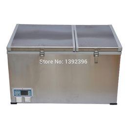 Wholesale L outdoor compressor refrigerator freezer dc v or v fridge with double door different refrigeration systems