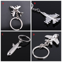 New Alloy Metal small plane Key chain 3D plane Model Aircraft Keyfob Battleplane fighter plane Key Holder airplane 4Styles