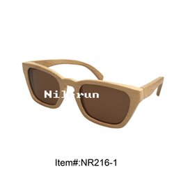 creative brown polarized lens natural bamboo sunglasses