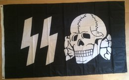 Wholesale German WW2 SS Death Head Flag x cm Polyester Storm Troopers Waffen Banner