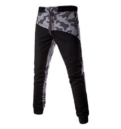 Free Shipping 2017 New Autumn and Winter Fashion Men's Casual Pants Slim Camouflage Print