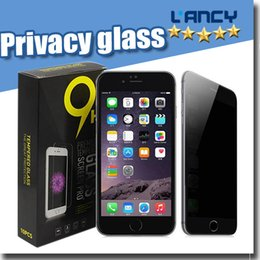 Wholesale for iPhone7 se Samsung S6 Tempered glass Screen protector Privacy LCD Anti Spy Screen Protector Film Guard Cover Shield