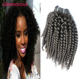 Glamorous Brazilian Hair Kink Curly Weave 4 Bundles 100% Human Hair Weft Cheap Peruvian Indian Malaysian Mongolian Virgin Human Hair Bundles