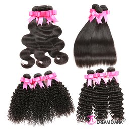 Brazilian Virgin Hair Unprocessed Body Wave Straight Kinky Curly Deep Wave Human Hair Weave Cheap Peruvian Indian Malaysian Hair Extensions