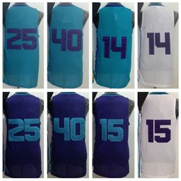 Wholesale Best Men Kemba Walker Al Jefferson Jersey Michael Kidd Gilchrist Cody Zeller Home Road Away Purple Green White With Player Name