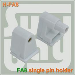 Las luces de carga en Línea-El envío libre FA8 sostenedor T8 LED del tubo de la luz del solo zócalo que acople un resorte-uno fijo (no-resorte) connnector final