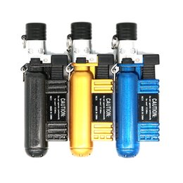 AOMAI AM-136 Oxygen Cylinder Shaped Refillable Butane Creative Jet 1300 C Torch Cigar Cigarette Lighter Color Assorted No gas