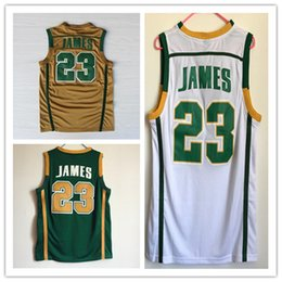 Wholesale New James Retro jerseys Senior middle school Throwback basketball jersey embroidery logo authentic shirts