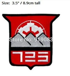 "Compañías de cine online-3.5 ""Star wars 501st Legion 725th Estratégico Insertion Company Patch película de hierro bordado en la insignia Halloween Cosplay traje de fiesta favor"