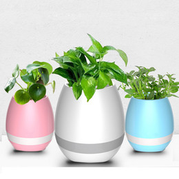 MJJC Smart Music Flowerport Bluetooth Speakers with LED Multi-color light Plant Interaction for Smart Phones(without plants)