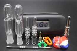 2017 bong de l'huile de miel Nectar Collector avec titane Nail Quartz Nail 10mm 14mm Grade 2 Mini Glass Pipe Oil Rig Honey Straw Mini Glass Bong budget bong de l'huile de miel