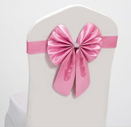 Wholesale Elastic Bow Chair Decoration Wedding Party Spandex Sashes for Chair Cover Event Decorative Chair Sashes High Quality Best Price JF