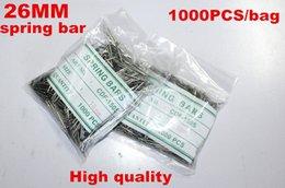 Acheter en ligne Regarder des pièces de réparation-Grossiste en gros 1000PCS / sac de haute qualité montre réparation des kits d'outils 26MM ressort bar montre pièces de réparation -041417