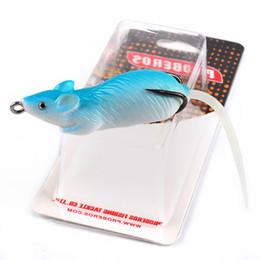 Acheter en ligne Poissons de silicone pour la pêche-2-couleurs Fishing Lure Hooks 6.86cm 13g souris foudre Silicone Lures Soft Baits crochet de pêche artificielle Pesca Tackle Accessoires