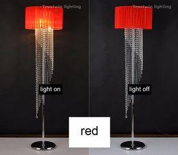 Wholesale With fabric shade E14 lamp floor light LED bulb optional European foyer glass crystal floor lamp crystal floor light